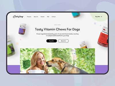 Dog Food Landing ecommerce product typogaphy parallax food dog web web design ux ui