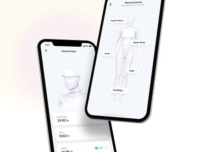 Body Measurement track fitness 3d body measurement iphone app ux ui