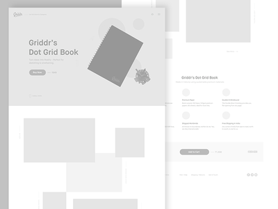 New Griddr Wireframes minimal book dot grid wireframes web design