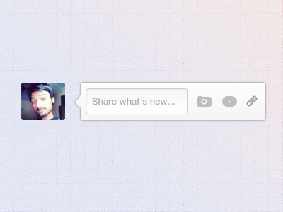 Share what's new... google share new ui camera video link clean psd