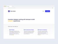 Personal website re-design