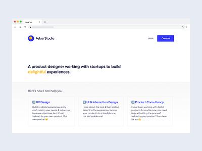 Personal website re-design portfolio site portfolio design webdesign designer portfolio landing-page animation website web interaction design clean ux ui