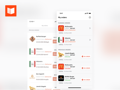 Orders Listing - ReDesign mobile app app ios interaction design clean ux ui