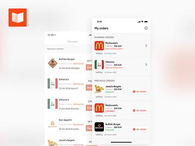 Orders Listing - ReDesign mobile app app ios interaction design clean ux ui