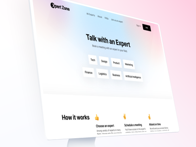 👋 Hey from Xpert Zone interaction gradient template landing-page website web design clean ux ui