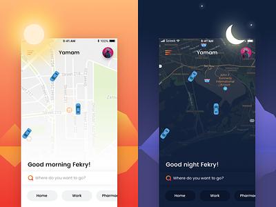 Yamam - Car booking app clean ux mobile ios ui sharing booking car uber