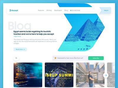 Accept payments blog design website landing-page clean blog payment ux ui