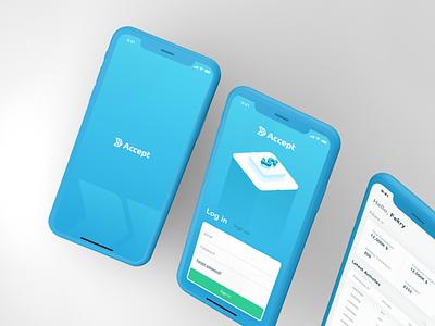 Accept Payments - IOS App stripe accept gateway payment clean ux ui app design iphone ios