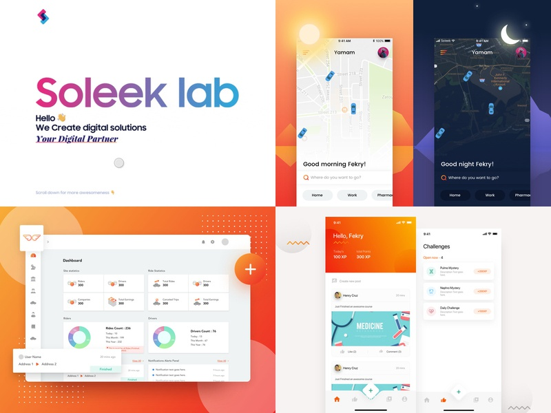 2018 gradient ui ux web ui-ux page mobile interface ico gui design dashboard applicaiton app administration