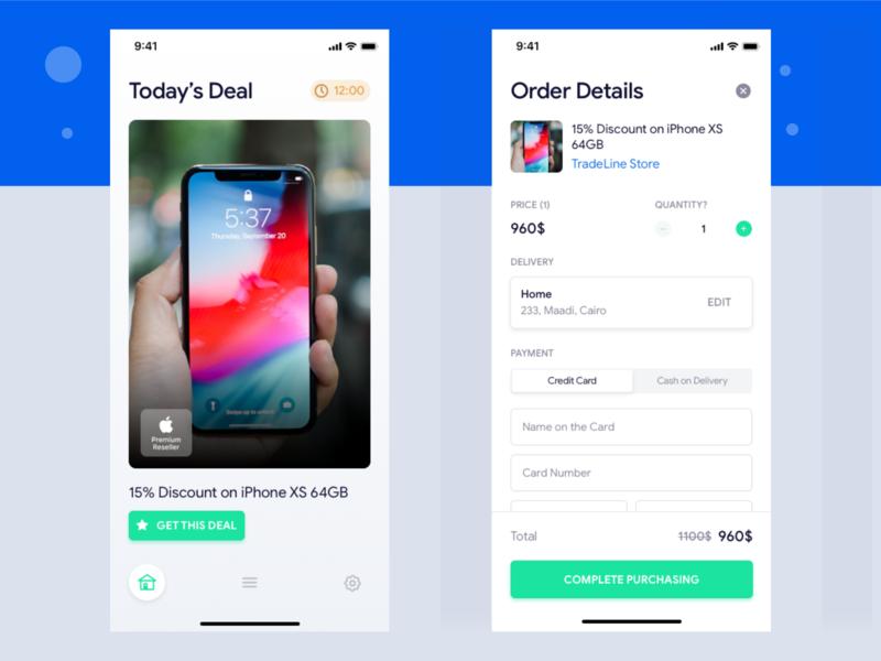 Offers & Deals app mobile app design ios clean ux ui