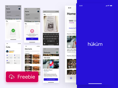 hokum - Free Sketch Template for a Wallet app design interaction template clean ios freebie sketch free payments wallet gamification loyalty ux ui