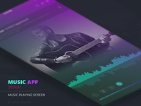 Music player app screen