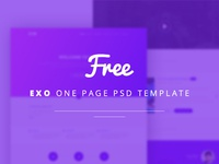 Freebie | EXO one page PSD template