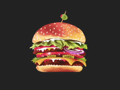 Burger Painting