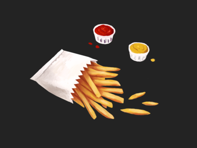 French Fries Painting