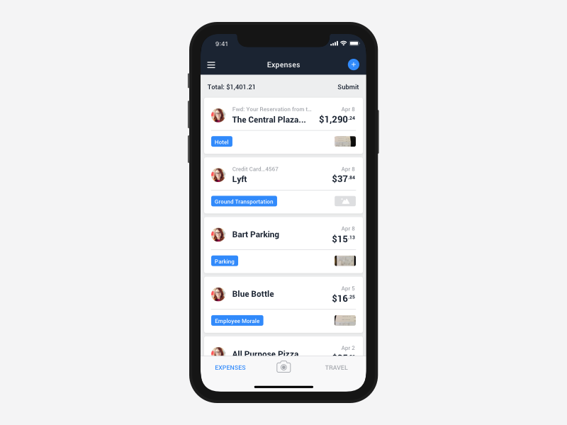 TravelBank iPhone X Support product design screen apple iphone ux ui app expenses travel design iphone x