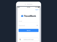 TravelBank Sign Up Page
