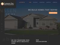 Redesigning Lenssen Inc. with a dark color palette