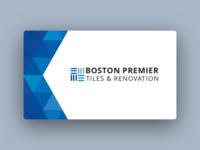 Business Card Design for Boston Premier Tiles