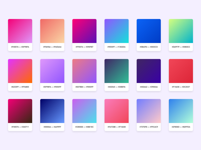 Gradients colorful gradients gradient free figma color palette branding colors color
