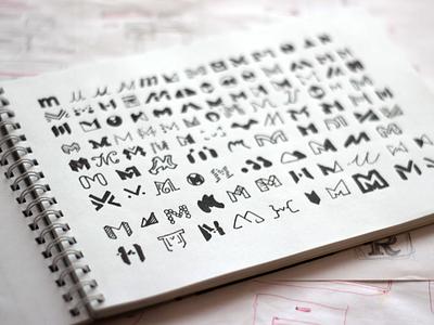 mottor logo drafts sketchbook sketches sketch mark logofolio logotypes logo design logos logo letter m drawing drafts draft concept logo branding brand lpmotor mottor