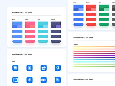 mottor iterations — Color System ui design ui product design color palette colors colorful color mottor lpmotor