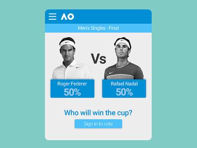 Voting UI match vote finals open australian web ui sports nadal federer tennis