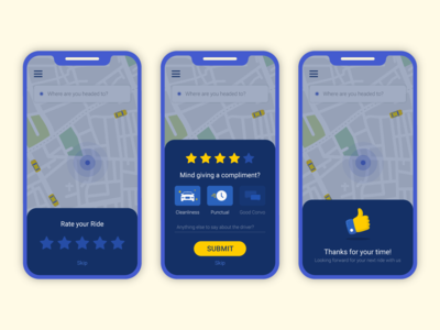Cab Rating UI Exploration