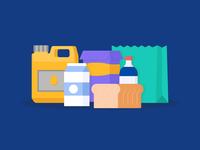 Groceries Illustration