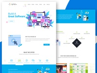 Software company website Design.