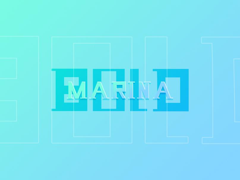 MARINA BOLD font bold font bold marina