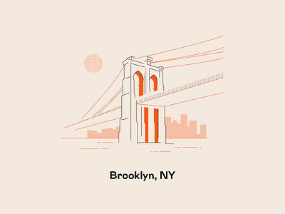 No sleep till Brooklyn! ui vector draw color flat design line illustrator adobe illustration