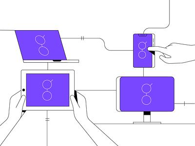 Cryptopedia - Golem Network network golem cryptocurrency crypto color design flat animation line illustrator adobe illustration