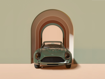 Render #8 - Car blendercycles blender 3d aston martin green color illustration