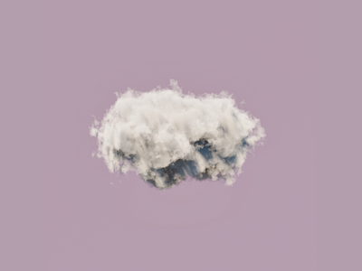Render #10 - Cloud cycles 3d blender 3d blender3d cloud blender minimalism minimalist illustration
