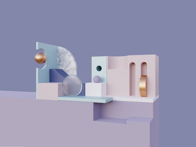 Render #11 - Shapes 3d art 3d artist 3d blender3d blender geometric geometry minimalist