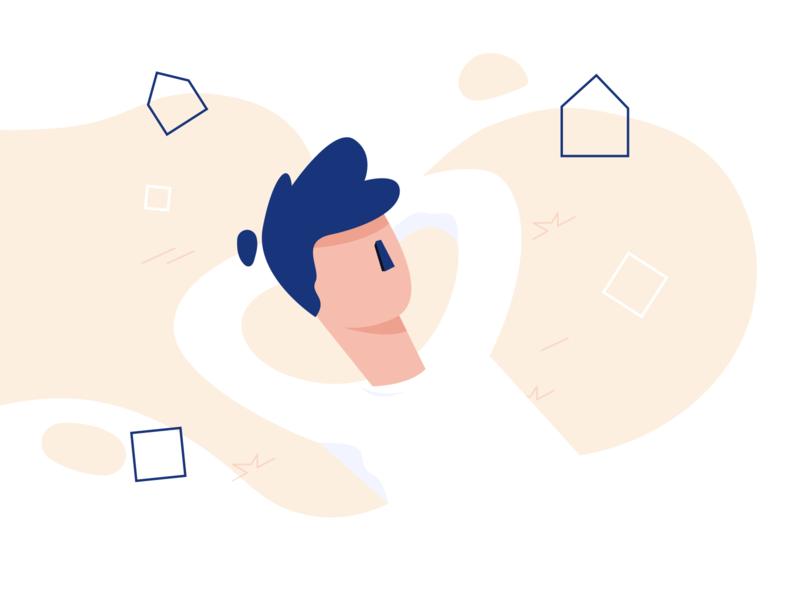 Think draw vector flat line blue illustrator animation adobe illustration
