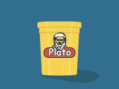 ComicSans Challenge: Plato play-doh yellow play-doh plato vector design graphic design font comic sans