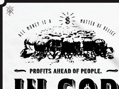 SOPHIC Money Worship t-shirt design