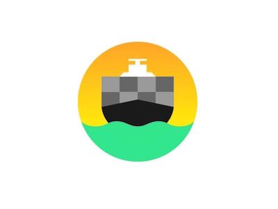 Cargo Ship Illustration