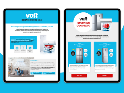 VOLT Web & Social media and Landing pages product page landing page design instagram banner facebook banner socialmedia digital campaign website ecommerce photoshop e-commerce design ux ui minimal flat design