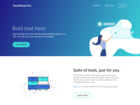 Landing page design exploration
