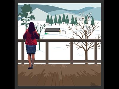 The cold Bloomington days! free hand. photo exploration ui design