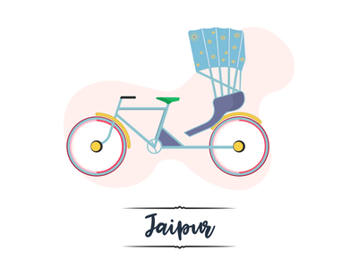 My Pink City! design inspiration series pink city visual design rickshaw ui design