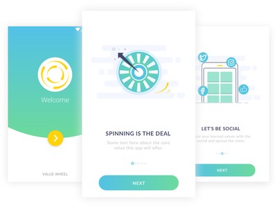 Spin to Win! Part 1 ux visual design ui concept onboarding mobile app design ui design ui exploration