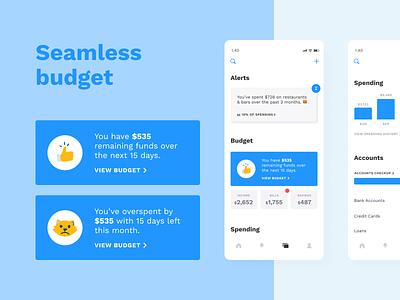 Albert budget cards design branding mobile savings illustration ux ui saving goals fintech finance clean profile app albert
