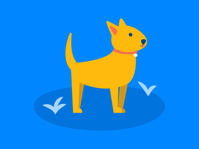Life is easier with a dog (or cat) by your side saving puppy fintech finance dog app albert illustration