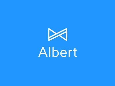 Albert Logo genius saving bowtie branding app logo