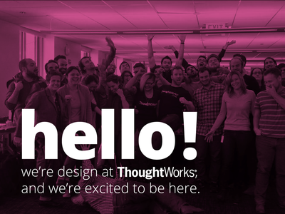 hello! debut pink thoughtworks open sans