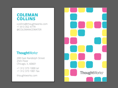 Hello other grownup pink yellow teal business cards vincent adultman